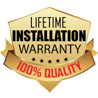 We offer a lifetime warranty on all installation workmanship. See store for details!