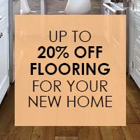Up to 20% OFF Flooring for your new home with our New Home Discount at Floorcrafters in Onalaska.